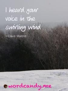 swirling wind